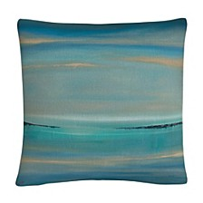 """The Line Of Time Abstract Bold Industrial 16x16"""" Decorative Throw Pillow by Masters Fine Art"""