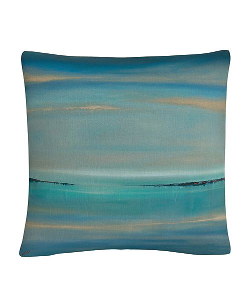 "Baldwin The Line Of Time Abstract Bold Industrial 16x16"" Decorative Throw Pillow by Masters Fine Art"