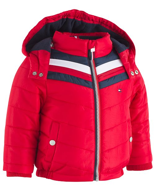 68dcfefa6 Tommy Hilfiger Baby Boys David Chevron Puffer Jacket & Reviews ...