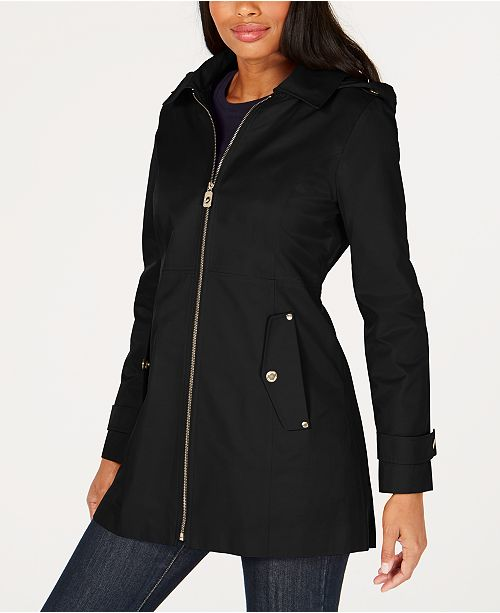 Michael Kors Hooded Raincoat