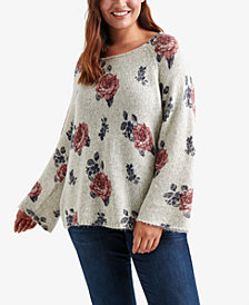 Lucky Brand Trendy Plus Size Floral-Print Sweater