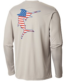 Columbia Men's PFG Terminal Tackle Americana Fish Long Sleeve