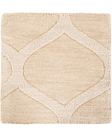 "Surya Mystique M-5107 Cream 18"" Square Swatch"