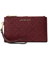 22317c8900c1 MICHAEL Michael Kors Adele Floral Perforated Double-Zip Wristlet