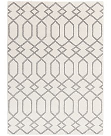 "Horizon HRZ-1048 Medium Gray 6'7"" x 9'6"" Area Rug"