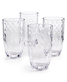 The Cellar Coastal Highball Acrylic Glasses, Set of 4, Created for Macy's