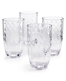CLOSEOUT! The Cellar Coastal Highball Acrylic Glasses, Set of 4, Created for Macy's