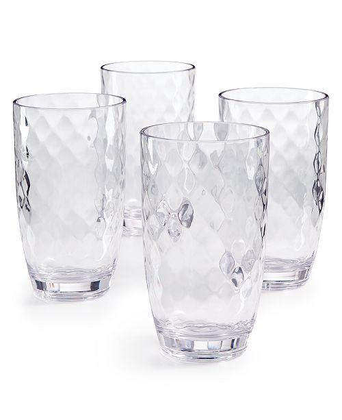 The Cellar Coastal Highball Acrylic Glasses, Set of 4, Created for Macy's