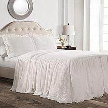 Ruffle Skirt 3-Piece King Bedspread Set