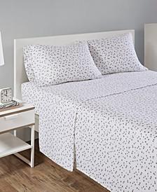 Novelty Print Cotton Flannel Full Sheet Set