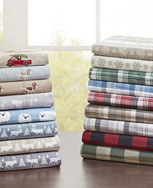 Cotton Flannel 4-Piece Sheet Set