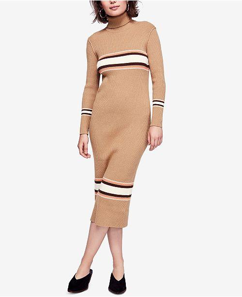 Free People Varsity-Stripe Midi Sweater Dress