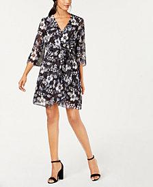 julia jordan Floral-Print A-Line Dress