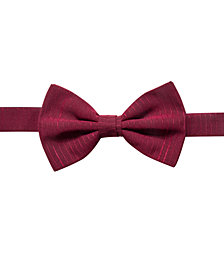 Ryan Seacrest Distinction™ Men's Striped Chiffon Pre-Tied Bow Tie, Created for Macy's