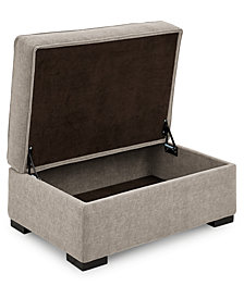 "Radley 36"" Fabric Chair Bed Storage Ottoman, Created for Macy's"