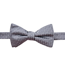 Ryan Seacrest Distinction™ Men's Victor Dot Grid Pre-Tied Silk Bow Tie, Created for Macy's