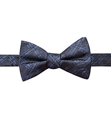 Ryan Seacrest Distinction™ Men's Pienza Plaid Pre-Tied Silk Bow Tie, Created for Macy's