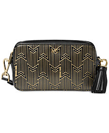Michael Kors Metallic Deco Small Camera Bag