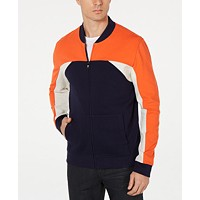 Deals on Alfani Mens Colorblocked Bomber Jacket