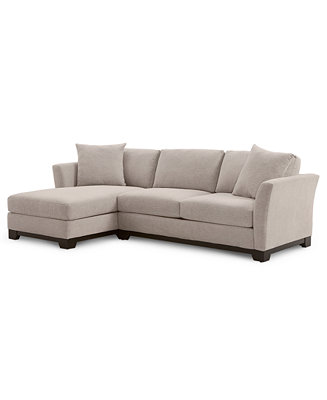 "Elliot Ii 107"" 2 Pc. Fabric Chaise Sectional Apartment Sofa, Created For Macy's by General"