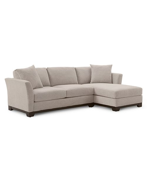 Furniture Elliot Ii 107 Quot 2 Pc Fabric Chaise Sectional