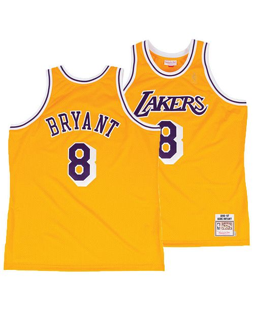 8cee2a8461c ... Mitchell   Ness Men s Kobe Bryant Los Angeles Lakers Authentic Jersey  ...