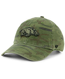 '47 Brand Arkansas Razorbacks Regiment CLEAN UP Strapback Cap