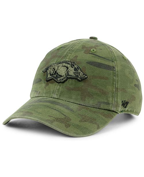 e648d663923 47 Brand Arkansas Razorbacks Regiment CLEAN UP Strapback Cap ...