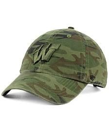 '47 Brand Wisconsin Badgers Regiment CLEAN UP Strapback Cap