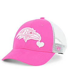'47 Brand Girls' Baltimore Ravens Sugar Sweet Mesh Adjustable Cap