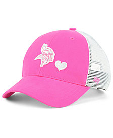 '47 Brand Girls' Minnesota Vikings Sugar Sweet Mesh Adjustable Cap