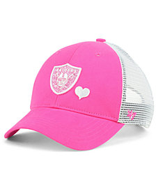 '47 Brand Girls' Oakland Raiders Sugar Sweet Mesh Adjustable Cap