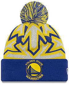 New Era Golden State Warriors Glowflake Cuff Knit Hat