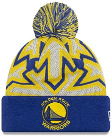 New Era Golden State Warriors Glowflake Cuff Knit Hat