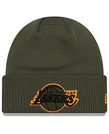 New Era Los Angeles Lakers Tip Pop Cuffed Knit Hat