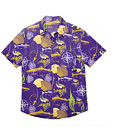 Forever Collectibles Men's Minnesota Vikings Floral Camp Shirt