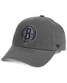 '47 Brand Brooklyn Nets Charcoal Pop MVP Cap