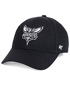 '47 Brand Charlotte Hornets Black White MVP Cap