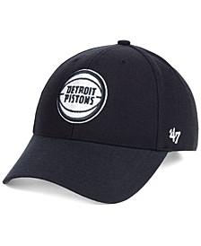 Detroit Pistons Black White MVP Cap
