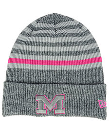 New Era Michigan Wolverines Striped Chill Knit Hat