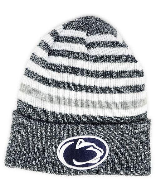 9063f5f370c New Era Penn State Nittany Lions Striped Chill Knit Hat - Sports Fan ...