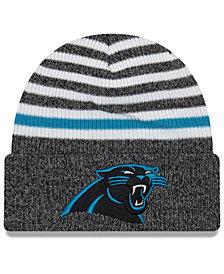 New Era Carolina Panthers Striped Cuff Knit Hat