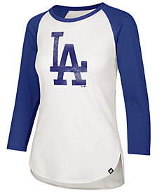 '47 Brand Women's Los Angeles Dodgers Imprint Splitter Raglan T-Shirt