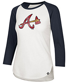 '47 Brand Women's Atlanta Braves Imprint Splitter Raglan T-Shirt
