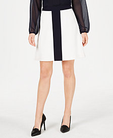 Tommy Hilfiger Colorblocked A-Line Skirt