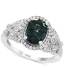 EFFY® Grey Spinel (2-1/3 ct. t.w.) & Diamond (1/2 ct. t.w.) Ring in 14k White Gold