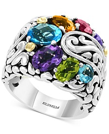 EFFY® Multi-Gemstone Statement Ring (5-1/5 ct. t.w.) in Sterling Silver & 18k Gold