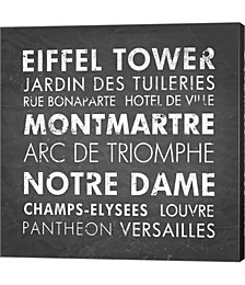 Paris by Veruca Salt Canvas Art