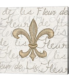 Fleur De Lis - White by Veruca Salt Canvas Art