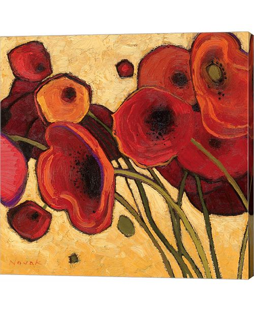 Metaverse Poppies Wildly I by Shirley Novak Canvas Art